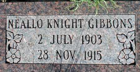 GIBBONS, NEALLO KNIGHT - Apache County, Arizona   NEALLO KNIGHT GIBBONS - Arizona Gravestone Photos