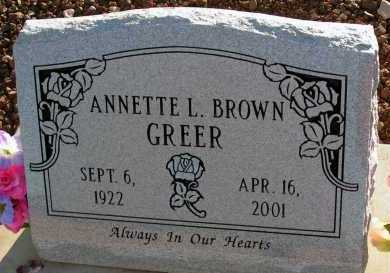 GREER, ANNETTE L. - Apache County, Arizona | ANNETTE L. GREER - Arizona Gravestone Photos