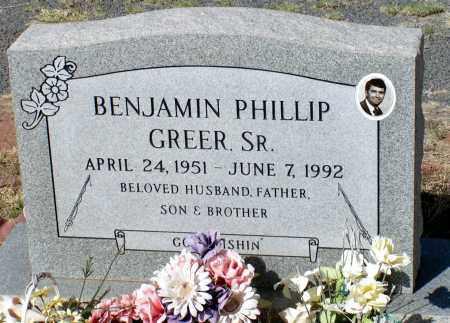 GREER, BENJAMIN PHILLIP, SR. - Apache County, Arizona | BENJAMIN PHILLIP, SR. GREER - Arizona Gravestone Photos