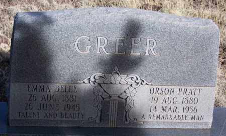 GREER, ORSON PRATT - Apache County, Arizona | ORSON PRATT GREER - Arizona Gravestone Photos