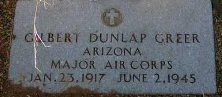 GREER, GILBERT DUNLAP - Apache County, Arizona | GILBERT DUNLAP GREER - Arizona Gravestone Photos