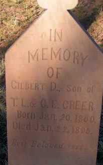 GREER, GILBERT D. - Apache County, Arizona | GILBERT D. GREER - Arizona Gravestone Photos