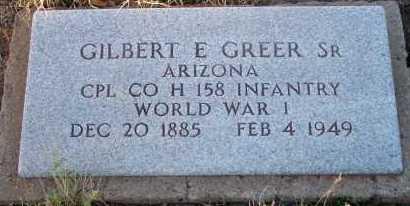 GREER, GILBERT E., SR. - Apache County, Arizona | GILBERT E., SR. GREER - Arizona Gravestone Photos