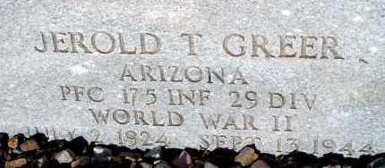 GREER, JEROLD T. - Apache County, Arizona | JEROLD T. GREER - Arizona Gravestone Photos