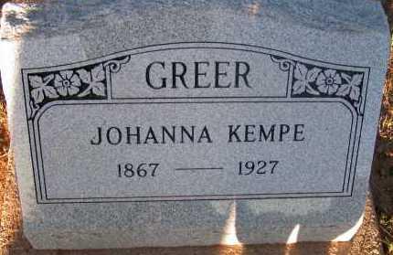 GREER, JOHANNA - Apache County, Arizona | JOHANNA GREER - Arizona Gravestone Photos
