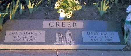 GREER, JOHN HARRIS - Apache County, Arizona | JOHN HARRIS GREER - Arizona Gravestone Photos