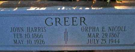 GREER, JOHN HARRIS - Apache County, Arizona | JOHN HARRIS GREER - Arizona Gravestone Photos