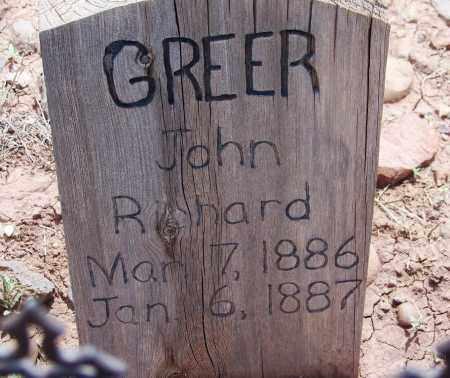 GREER, JOHN RICHARD - Apache County, Arizona | JOHN RICHARD GREER - Arizona Gravestone Photos