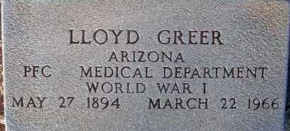 GREER, LLOYD - Apache County, Arizona   LLOYD GREER - Arizona Gravestone Photos