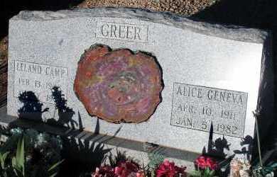 GREER, LELAND CAMP - Apache County, Arizona | LELAND CAMP GREER - Arizona Gravestone Photos