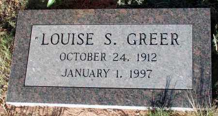 GREER, LOUISE S. - Apache County, Arizona | LOUISE S. GREER - Arizona Gravestone Photos