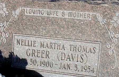 GREER, NELLIE MARTHA - Apache County, Arizona | NELLIE MARTHA GREER - Arizona Gravestone Photos
