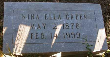 GREER, NINA ELLA - Apache County, Arizona | NINA ELLA GREER - Arizona Gravestone Photos