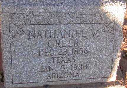GREER, NATHANIEL W. - Apache County, Arizona | NATHANIEL W. GREER - Arizona Gravestone Photos