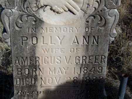 GREER, POLLY ANN - Apache County, Arizona | POLLY ANN GREER - Arizona Gravestone Photos