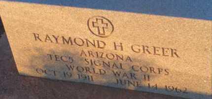 GREER, RAYMOND H> - Apache County, Arizona | RAYMOND H> GREER - Arizona Gravestone Photos