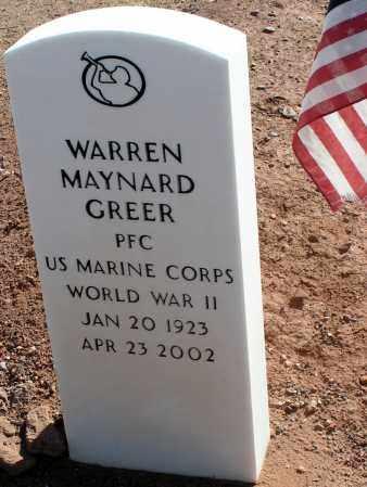 GREER, WARREN MAYNARD - Apache County, Arizona | WARREN MAYNARD GREER - Arizona Gravestone Photos