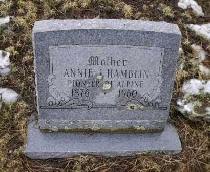 HAMBLIN, ANNIE L. - Apache County, Arizona | ANNIE L. HAMBLIN - Arizona Gravestone Photos
