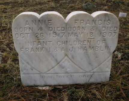 HAMBLIN, FRANCIS - Apache County, Arizona | FRANCIS HAMBLIN - Arizona Gravestone Photos
