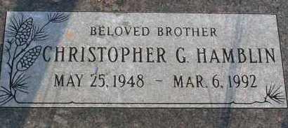 HAMBLIN, CHRISTOPHER G. - Apache County, Arizona | CHRISTOPHER G. HAMBLIN - Arizona Gravestone Photos