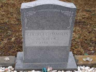 HAMBLIN, GERTRUDE - Apache County, Arizona   GERTRUDE HAMBLIN - Arizona Gravestone Photos