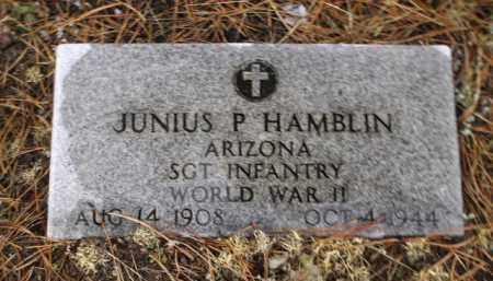 HAMBLIN, JUNIUS P. - Apache County, Arizona | JUNIUS P. HAMBLIN - Arizona Gravestone Photos