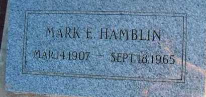 HAMBLIN, MARK E. - Apache County, Arizona | MARK E. HAMBLIN - Arizona Gravestone Photos