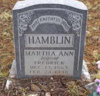 HAMBLIN, MARTHA ANN - Apache County, Arizona | MARTHA ANN HAMBLIN - Arizona Gravestone Photos