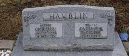 HAMBLIN, OBID ALLEND - Apache County, Arizona | OBID ALLEND HAMBLIN - Arizona Gravestone Photos