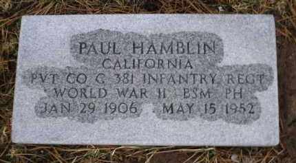 HAMBLIN, PAUL - Apache County, Arizona | PAUL HAMBLIN - Arizona Gravestone Photos