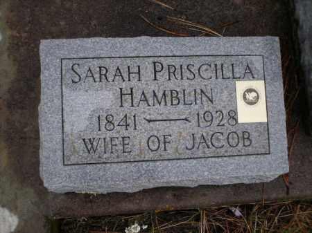 HAMBLIN, SARAH PRISCILLA - Apache County, Arizona   SARAH PRISCILLA HAMBLIN - Arizona Gravestone Photos