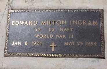 INGRAM, EDWARD MILTON - Apache County, Arizona | EDWARD MILTON INGRAM - Arizona Gravestone Photos