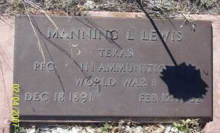 LEWIS, MANNING L - Apache County, Arizona | MANNING L LEWIS - Arizona Gravestone Photos