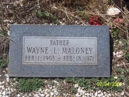 MALONEY, WAYNE L. - Apache County, Arizona | WAYNE L. MALONEY - Arizona Gravestone Photos