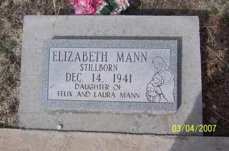MANN, ELIZABETH - Apache County, Arizona | ELIZABETH MANN - Arizona Gravestone Photos