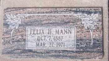 MANN, FELIX H. - Apache County, Arizona   FELIX H. MANN - Arizona Gravestone Photos