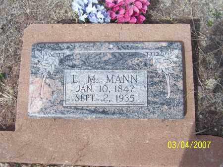 MANN, L.M. - Apache County, Arizona | L.M. MANN - Arizona Gravestone Photos