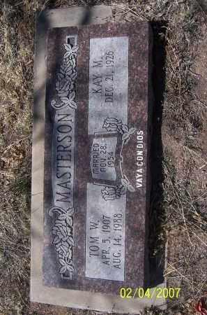 MASTERSON, TOM W. - Apache County, Arizona | TOM W. MASTERSON - Arizona Gravestone Photos