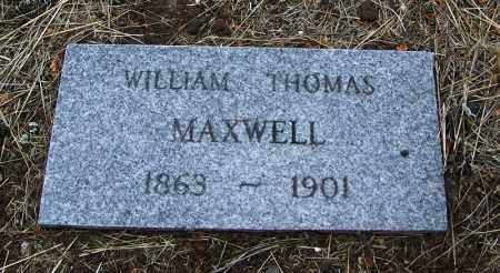 MAXWELL, WILLIAM THOMAS - Apache County, Arizona | WILLIAM THOMAS MAXWELL - Arizona Gravestone Photos