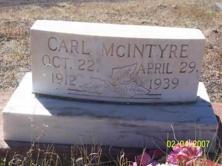 MCINTYRE, CARL - Apache County, Arizona   CARL MCINTYRE - Arizona Gravestone Photos