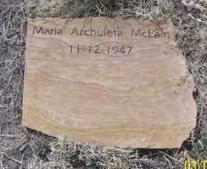 ARCHULETA MCLAIN, MARIA - Apache County, Arizona | MARIA ARCHULETA MCLAIN - Arizona Gravestone Photos
