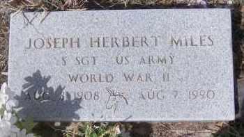 MILES, JOSEPH HERBERT - Apache County, Arizona | JOSEPH HERBERT MILES - Arizona Gravestone Photos
