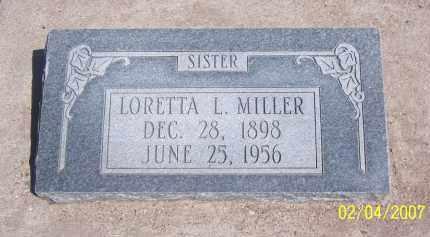 MILLER, LORETTA L. - Apache County, Arizona   LORETTA L. MILLER - Arizona Gravestone Photos