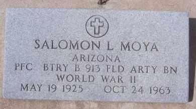 MOYA, SALOMON L - Apache County, Arizona   SALOMON L MOYA - Arizona Gravestone Photos