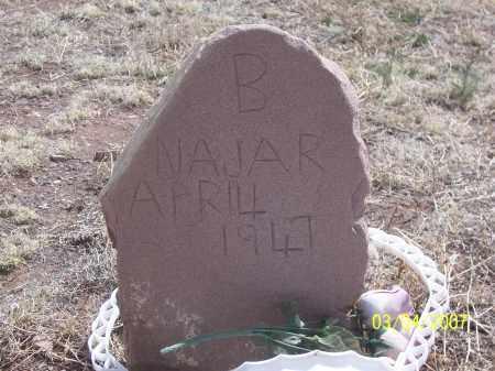 NAJAR, B - Apache County, Arizona | B NAJAR - Arizona Gravestone Photos