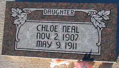 NEAL, CHLOE - Apache County, Arizona | CHLOE NEAL - Arizona Gravestone Photos