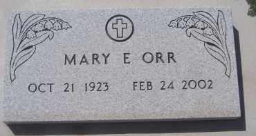 ORR, MARY E - Apache County, Arizona | MARY E ORR - Arizona Gravestone Photos