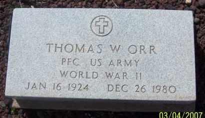 ORR, THOMAS W - Apache County, Arizona | THOMAS W ORR - Arizona Gravestone Photos