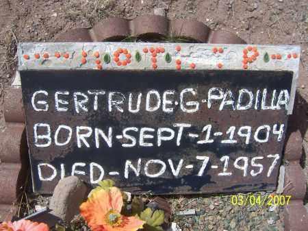 PADILLA, GERTRUDE - Apache County, Arizona | GERTRUDE PADILLA - Arizona Gravestone Photos