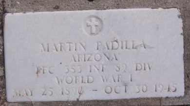 PADILLA, MARTIN - Apache County, Arizona | MARTIN PADILLA - Arizona Gravestone Photos